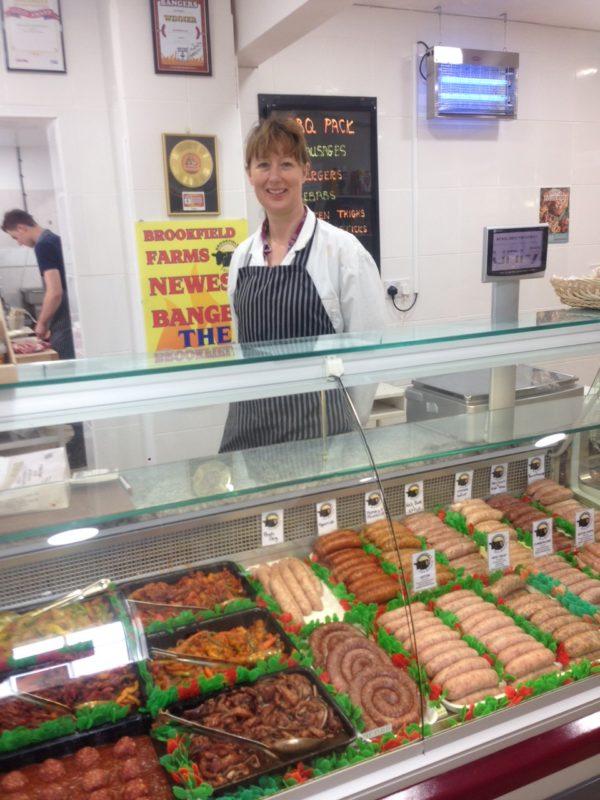 Barbara at Brookfield farm butchers